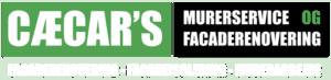 Cæcar's murerservice logo transparent hvid